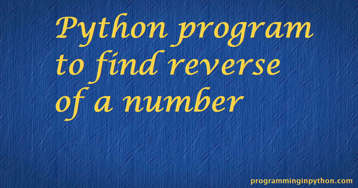 how to use reverse in python